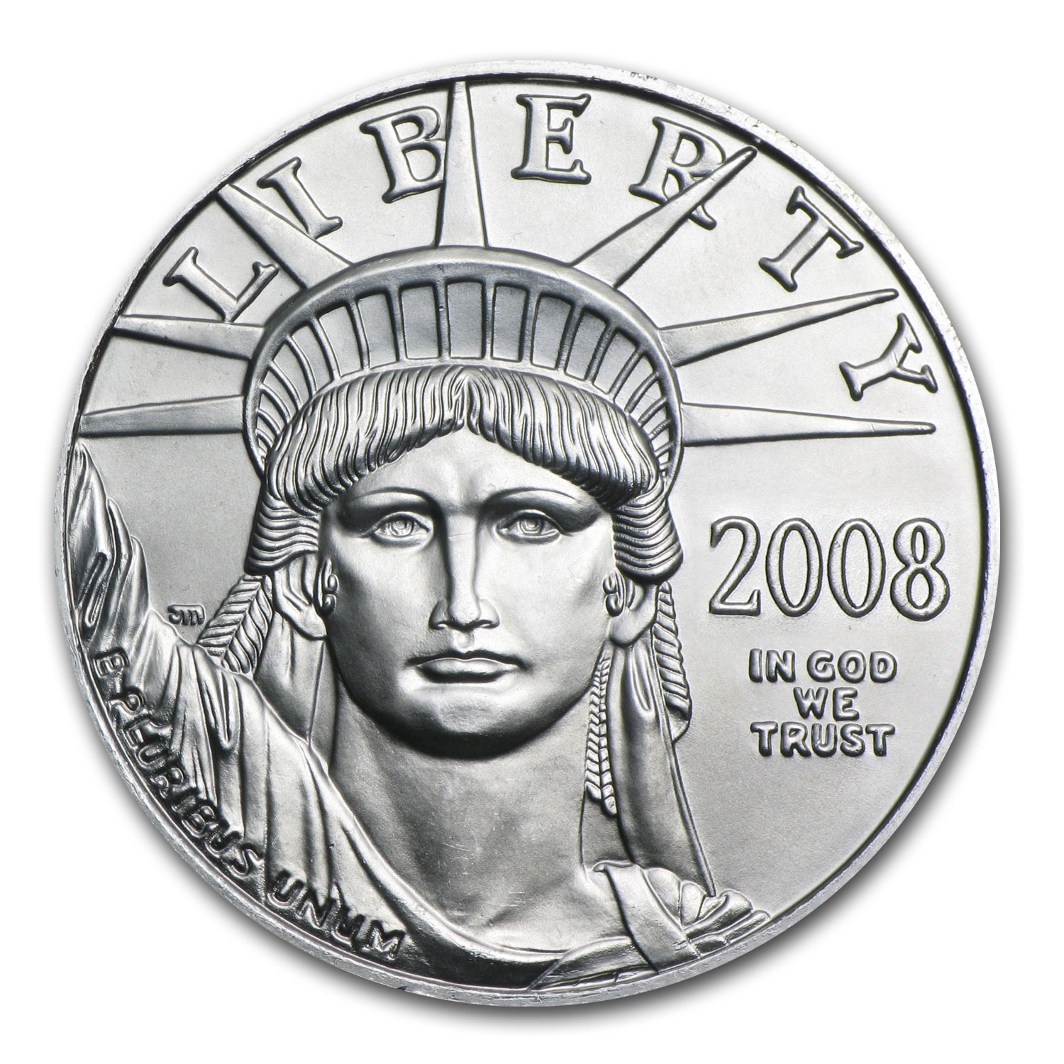 2008 1/10 oz Platinum American Eagle BU